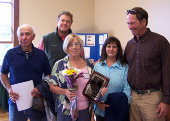 Gussie Graves Lister of the Year 2012 with Selectboard members and Town Clerk
